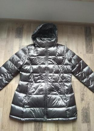 3xl, 58 куртка пальто calvin klein пух, серебристый