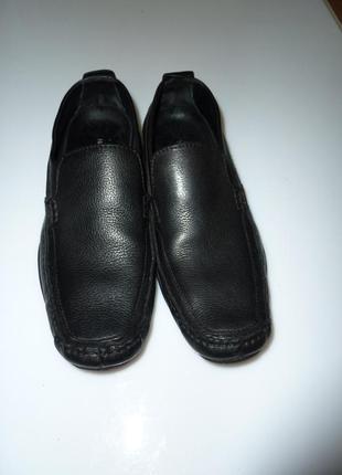 Hush puppies мягкие кожаные туфли мокасины, р 43 uk 10, стелька 29,5 см, индия
