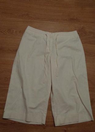 Стильные легкие бриджи / летние брюки/ длинные шорты / лен котон 2 xl