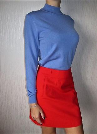 Красная юбка трапеция н&м