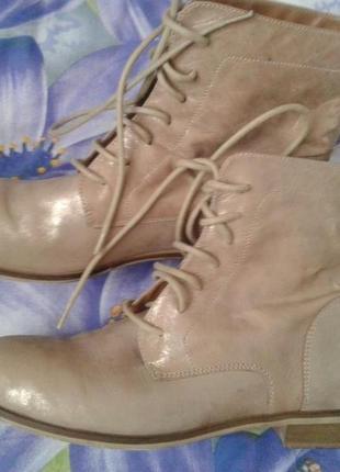 Lavarizone artigiana золотисто-пудровые ботинки кожа демисезон весна-осень 40р(26см)