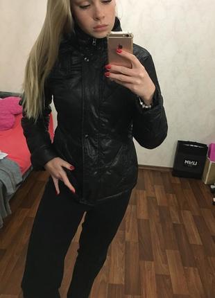 Пуховая курточка пуховик черный incity