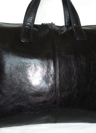 Стильная большая деловая сумка натуральная кожа leonhard heyden