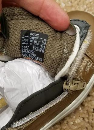 Ecco ginnie - кожаные полуботинки - 28, 295 фото