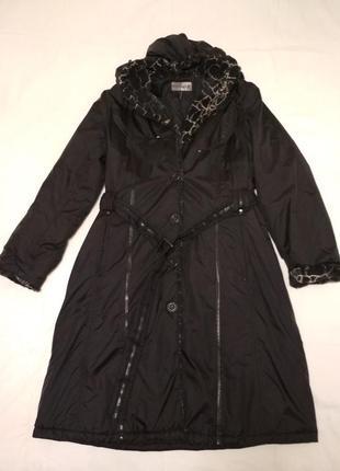 Стильное утепленное пальто с капюшоном, размер 52, easy comfort, голландия