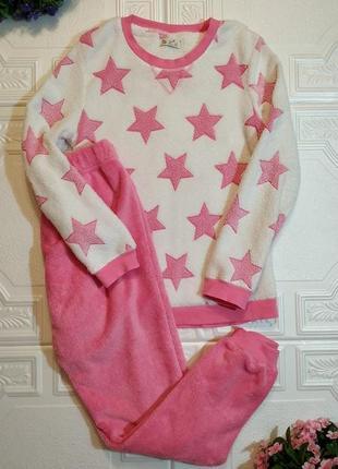 Махровая плюшевая пижама love to lounge, костюм с брюками, xs/s