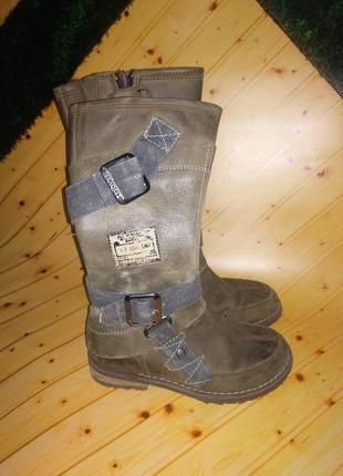 Сапоги высокие из натуральной кожи бренда braqeez (нидерланды) 31 размер