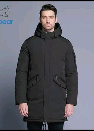 Куртка - полупальто, парка  icebear на  50 р,  темно зелёная