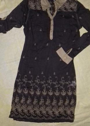 Тончайшее платье-рубашка из хлопка