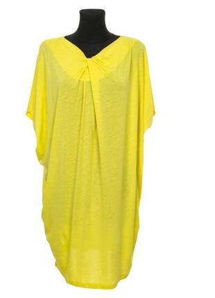 Желтое трикотажное платье футболка cos, новое!1