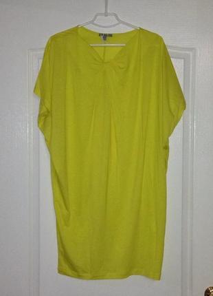 Желтое трикотажное платье футболка cos, новое!3