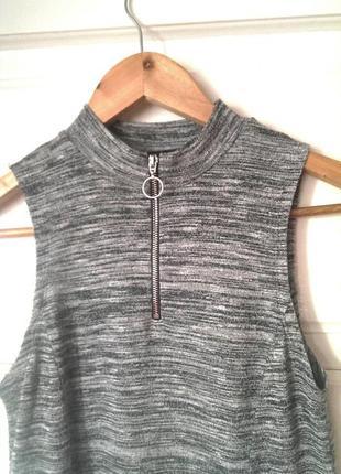 Трендова сукня-меланж з кільцем на замочку, під горло new look (generations), на р. xs/s