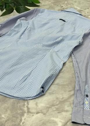 Стильная рубашка в полоску    bl1902127 classic fit2