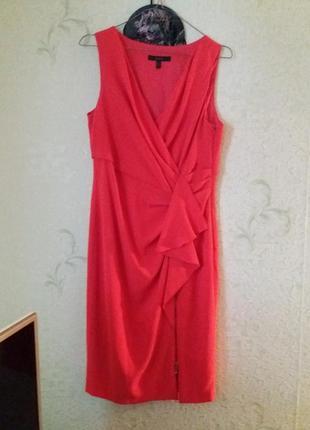 Кораловое бесподобное платье coast с м