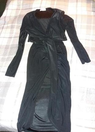 Чёрное смелое платье pink botique с-м2