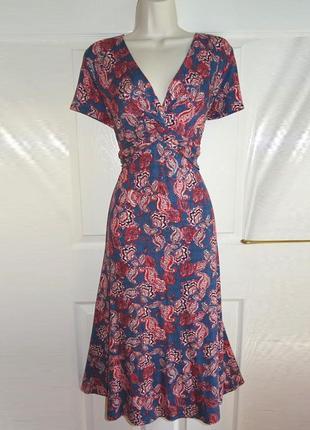 Платье натуральная ткань миди per una/marks & spencer с asos