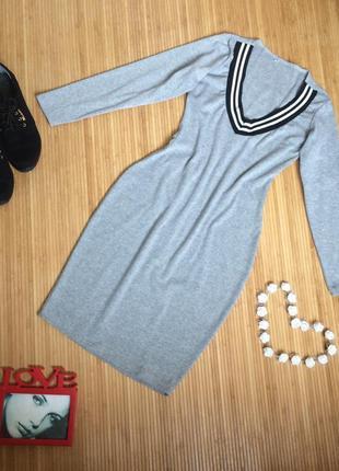 Стильное,тёплое платье по фигуре,размер  m