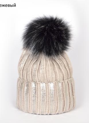 Зимняя шапка на флисе, фольгированное напыление.