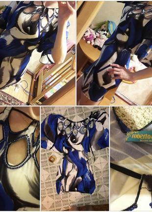 Фирменное нарядное яркое платье
