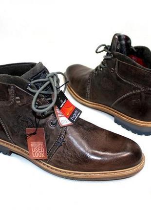 Ботинки 40 р 42 р 43 р bugatti германия кожа  демисезон