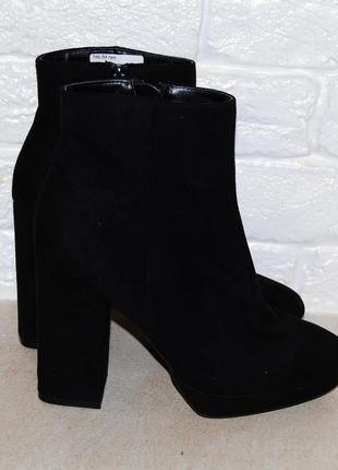 Ботинки черные толстый каблук new look 40 р-р 26 см