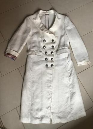 Пальто etro из льна оригинал стильный дорогой бренд размер m-l