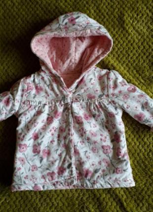 Демисезонная курточка для девочки, можно носить с двух сторон