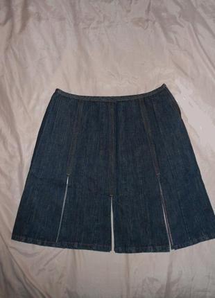Мегаскидка!! paul smith джинсовая юбка с разрезами, ит. 46, l-ка, наш 482 фото