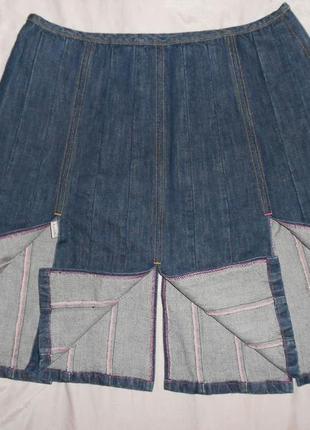 Мегаскидка!! paul smith джинсовая юбка с разрезами, ит. 46, l-ка, наш 483 фото