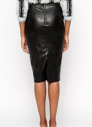 Стильная классическая юбка-карандаш, эко-кожа.