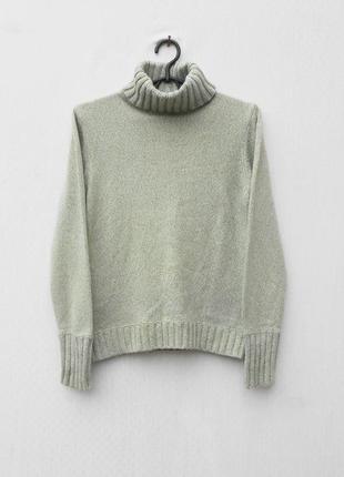 Осенний зимний вязаный 7% кашемировый 5% ангоровый свитер под горло