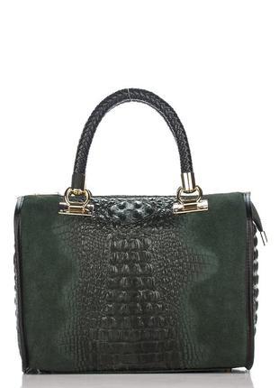 Кожаная зеленая сумка marianne италия разные цвета