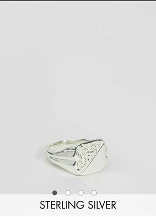 Кольцо печатка серебро asos экслюзив
