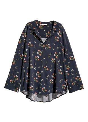 Оверсайз блуза в цветочный принт h&m