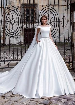 Свадебное платье/фата/подъюбник pollardi/весільна сукня daria karlozi