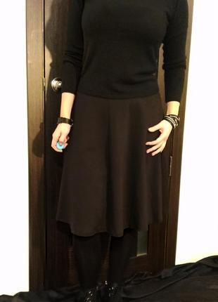 2634\80 черная трикотажная юбка dorothy perkins xxl