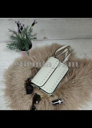 Стильная повседневная сумка через плечо с жемчугом l. pigeon 89008 beige (кремовый)