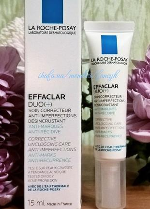 Корректирующее средство для жирной и проблемной кожи лица la roche-posay effaclar 15ml