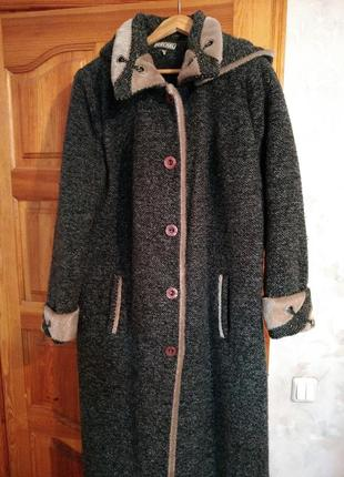 Пальто женское длинное большого размера