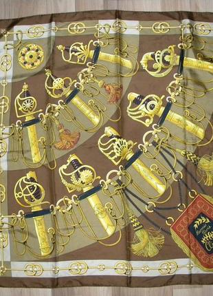"""Платок vintage hermes silk scarf """"cliquetis"""" by julie abadie"""