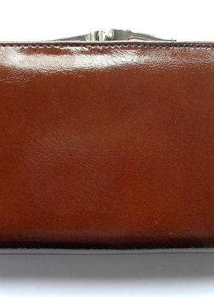 Кожаный кошелек портмоне шоколадная роза, 100% натуральная кожа, есть доставка бесплатно2 фото