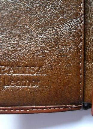 Кожаный кошелек портмоне шоколадная роза, 100% натуральная кожа, есть доставка бесплатно5 фото