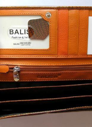 Большой кожаный лаковый кошелек gold, 100% натуральная кожа, есть доставка бесплатно2 фото