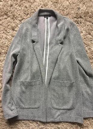 Блейзер-пальто без пуговиц oversize