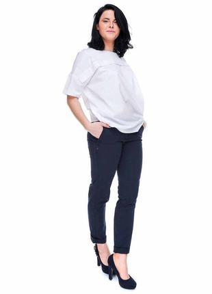 Натуральные синие брюки с легкой теркой s.oliver размер 40, на 46 наш