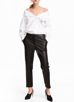 Всегда в моде!кожаные брюки,штаны h&m (см.замеры)