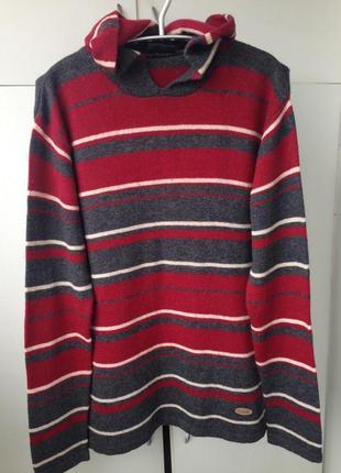 Мужской шерстяной свитер, худи motor jeans с капюшоном!