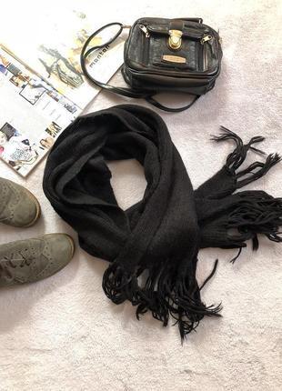 Шерстяной длинный шарф