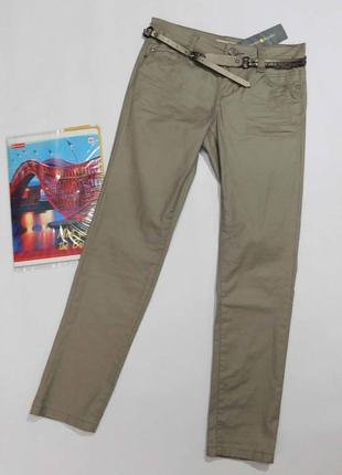 Бежевые джинсы с пропиткой cache-cache размер 36, на 44 наш