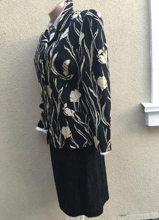 Фактур,шелк+шерсть костюм(юбка-жакет,пиджак)большой разм,кутюр-эксклюзив,бренд4 фото